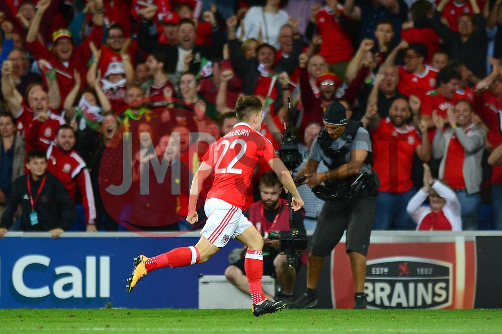 Ben Woodburn of Wales celebrates scoring a goal - Mandatory by-line: Dougie Allward/JMP - 02/09/2017 - FOOTBALL - Cardiff City Stadium - Cardiff, Wales - Wales v Austria - FIFA World Cup Qualifier 2018