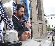 Dundee manager Paul Hartley thanks the fans - Dundee FC civic reception at Dundee City Chambers<br /> <br />  - &copy; David Young - www.davidyoungphoto.co.uk - email: davidyoungphoto@gmail.com