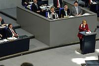 """07 SEP 2005, BERLIN/GERMANY:<br /> Gerhard Schroeder (L), SPD, Bundeskanzler, und Angela Merkel (R), CDU bundesvorsitzende und Kanzlerkandidatin, waehrend der Merkels Rede zu Schroeders Regierungserklaerung zum Thema """"Deutschland ist auf dem richtigen Weg - Vertrauen in die Staerken unseres Landes"""", letzte Bundestagsdebatte vor der Bundestagswahl, Plenum, Deutscher Bundestag<br /> Gerhard Schroeder (L), Federal Chancellor, and Angela Merkel (R), Chairwoman of the christian democratic party and candidate for chancellor, during the speech of Merkel, last sitting of the Bundestag before the general elections, plenary, Deutscher Bundestag<br /> IMAGE: 20050907-01-079<br /> KEYWORDS: Gerhard Schröder"""