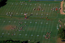 Stock photo of the aerial view of University of Houston football practice