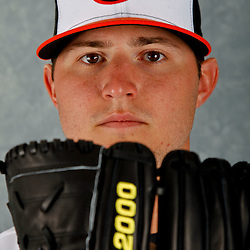March 1, 2012; Sarasota, FL, USA; Baltimore Orioles starting pitcher Zach Britton (53) poses for a portrait during photo day at the spring training headquarters.  Mandatory Credit: Derick E. Hingle-US PRESSWIRE