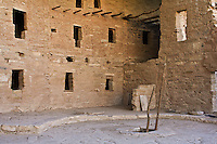 Courtyard at the Spruce Tree House.  Mesa Verde National Park, Colorado,  USA