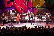 Blondie performs at the Austin Music Hall in Austin Texas, August 20, 2009. Blondie is an American pop/rock band founded by singer Deborah Harry and guitarist Chris Stein, the band was a pioneer in the early American new wave and punk rock scenes of the mid 1970s.