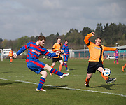 - Ferry Mechanics (red and blue) v Sidlaw Albion (tangerine) in the Dundee Saturday Morning Football League Memorial Cup first round at University Ground, Riverside, Dundee, Photo: David Young<br /> <br />  - © David Young - www.davidyoungphoto.co.uk - email: davidyoungphoto@gmail.com