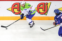 Anze Kuralt of Slovenia during Ice Hockey match between National Teams of Great Britain and Slovenia in Round #1 of 2018 IIHF Ice Hockey World Championship Division I Group A, on April 22, 2018 in Budapest, Hungary. Photo by David Balogh / Sportida