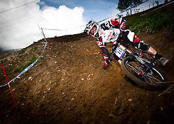 12.06.2011, Bikepark, Leogang, AUT, UCI MOUNTAINBIKE WORLDCUP, LEOGANG, im Bild Justin Leov, NZL // during the UCI MOUNTAINBIKE WORLDCUP, LEOGANG, AUSTRIA, 2011-06-12, EXPA Pictures © 2011, PhotoCredit: EXPA/ J. Feichter