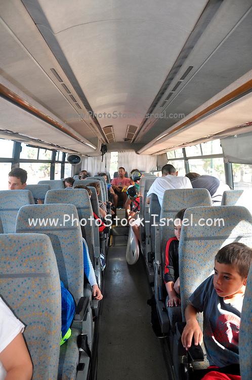 Israel, Interior of a public bus