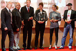 Martin Steiner, Slavko Cerne, Dusan Prezelj, Martina Ratej, Sonja Roman and  Bostjan Buc during the Slovenia's Athlete of the year award ceremony by Slovenian Athletics Federation AZS, on November 12, 2008 in Hotel Mons, Ljubljana, Slovenia.(Photo By Vid Ponikvar / Sportida.com) , on November 12, 2010.