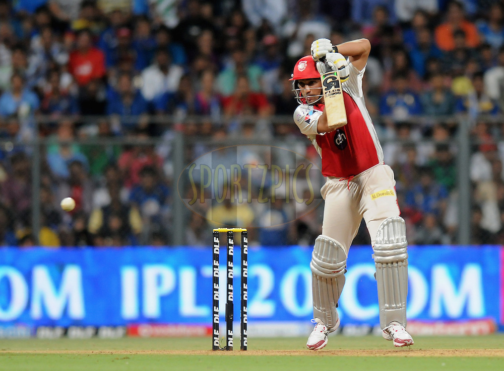 Azhar Mahmood of Kings XI Punjab bats during match 28 of the Indian Premier League ( IPL) 2012  between The Mumbai Indians and the Kings X1 Punjab held at the Wankhede Stadium in Mumbai on the 22nd April 2012..Photo by Pal Pillai/IPL/SPORTZPICS.