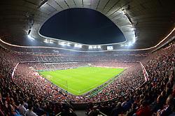 THEMENBILD - die Allianz Arena in Muenchen, im Bild die ALLIANZ ARENA am Abend, Innenansicht mit Spielfeld und Fans, Bild aufgenommen am 16.04.2013, Allianz Arena, Muenchen, Deutschland. EXPA Pictures © 2013, PhotoCredit: EXPA/ Eibner/ Bert Harzer..***** ATTENTION - OUT OF GER *****
