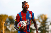 Sullay KaiKai with the matchball during the Pre-Season Friendly match between Bromley and Crystal Palace at the Courage Stadium, Bromley, United Kingdom on 30 July 2015. Photo by Michael Hulf.