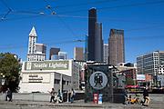 Vy &ouml;ver Seattle precis bredvid King Street Station.<br /> <br /> Foto: Christina Sj&ouml;gren