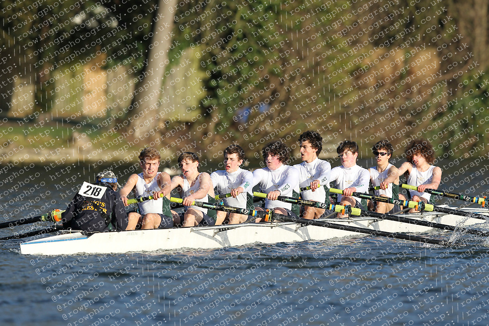 2012.02.25 Reading University Head 2012. The River Thames. Division 2. Kings School Chester Boat Club Nov 8+