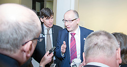 Pictured: Sir John Leighton and Ben Thomson meet the press.<br /> <br /> Sir John Leighton, director-general of National Galleries of Scotland; Patricia Allerston, deputy director Scottish National Gallery; and Ben Thomson, chairman of the trustees at National Galleries of Scotland were in attendance as a briefing was given on the redevelopment of the  Scottish National Gallery in Edinburgh. <br /> <br /> Ger Harley | EEm 10 November 2016