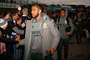 Leeds United forward Tyler Roberts (11) arrives during the EFL Sky Bet Championship match between Leeds United and West Bromwich Albion at Elland Road, Leeds, England on 1 October 2019.