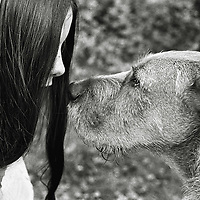 A young woman and her dog