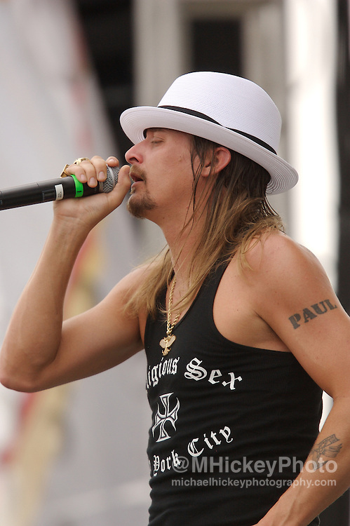 Kid Rock performs following Carb Day activities at the Indianapolis Motor Speedway in Speedway, Indiana on May 25, 2007. Photo by Michael Hickey