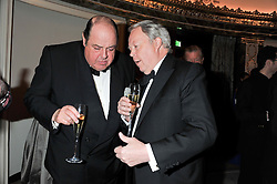 Left to right, The HON.NICHOLAS SOAMES and the EARL DE LA WARR at the 21st Cartier Racing Awards held at The Dorchester, Park Lane, London on 15th November 2011.