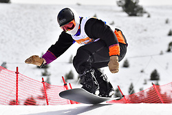 MASSIE Alex, SB-LL2, CAN, Banked Slalom at the WPSB_2019 Para Snowboard World Cup, La Molina, Spain