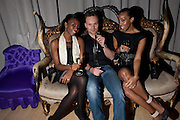 NADEZHDA ROBINSON; TOM MCCALL; QIANNA SMITH, Frieze week party at the Sanderson hotel hosted by Andrew Kreps Gallery and Anton Kern Gallery . Billiard Room at Sanderson. London. 16 October 2010. <br />