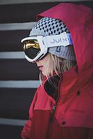 Ski Mountaineer Caroline Gleich at Brighton Resort, Big Cottonwood Canyon, Utah.