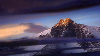I can not stop searching for the mountains and observing the light that is shine on its peaks.<br />