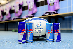A general view of Red Bull in the changing room prior to kick off  - Mandatory by-line: Ryan Hiscott/JMP - 18/01/2020 - RUGBY - Sandy Park - Exeter, England - Exeter Chiefs v La Rochelle - Heineken Champions Cup