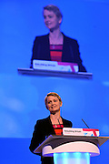 © Licensed to London News Pictures. 03/10/2012. Manchester, UK. Yvette Cooper, Shadow Home Secretary,  delivers her speech on Day 4 at The Labour Party Conference at Manchester Central today 3rd october 2012. Photo credit : Stephen Simpson/LNP