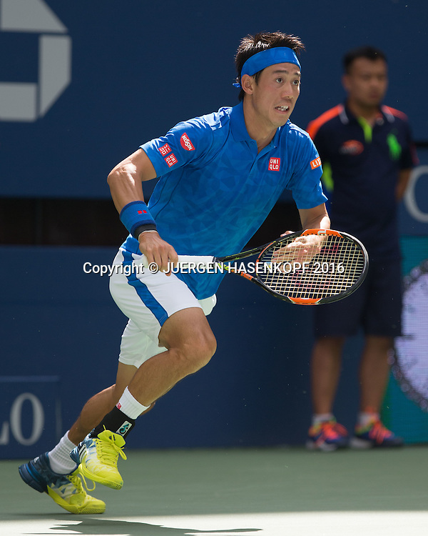 KEI NISHIKORI (JPN)<br /> <br /> Tennis - US Open 2016 - Grand Slam ITF / ATP / WTA -  USTA Billie Jean King National Tennis Center - New York - New York - USA  - 7 September 2016.
