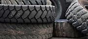 Used heavy equipment tires. Route 3, Harper  (Beckley area) West Virginia May 2011