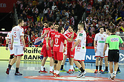 Croatia celebrate after winning the EHF 2018 Men's European Championship, 2nd Round, Handball match between Croatia and Belarus on January 18, 2018 at the Arena in Zagreb, Croatia - Photo Laurent Lairys / ProSportsImages / DPPI