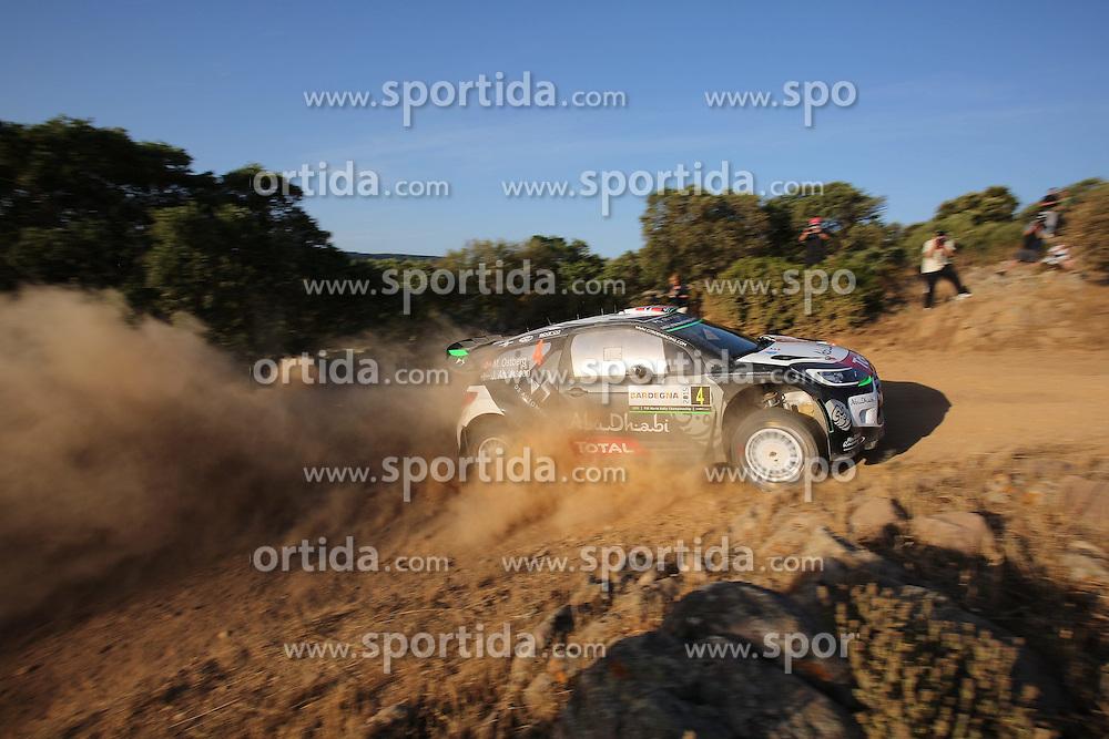 11.06.2015, Putifigari, Alghero, ITA, FIA, WRC, Rally Italia Sardegna 2015, im Bild Sebastien Loeb/Daniel Elena (Citroen Total Abu Dhabi WRT/DS3 WRC) // during the FIA WRC Rallye Italia Sardegna 2015 at Putifigari in Alghero, Italy on 2015/06/11. EXPA Pictures &copy; 2015, PhotoCredit: EXPA/ Eibner-Pressefoto/ Bermel<br /> <br /> *****ATTENTION - OUT of GER*****