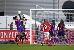 Sophie Baggaley of Bristol City clears the ball - Mandatory by-line: Paul Knight/JMP - 17/11/2018 - FOOTBALL - Stoke Gifford Stadium - Bristol, England - Bristol City Women v Liverpool Women - FA Women's Super League 1