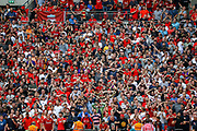 Liverpool fans during the FA Community Shield match between Manchester City and Liverpool at Wembley Stadium, London, England on 4 August 2019.