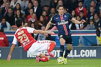Edinson Cavani / Aissa Mandi  - 23.05.2015 - PSG / Reims - 38eme journee de Ligue 1<br />Photo : Andre Ferreira / Icon Sport