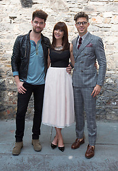 Repro Free: 11/09/2014<br /> Eoghan McDermott,  Jennifer McGuire and Darren Kennedy pictured at the RT&Eacute; Two New Season Launch in Gateway House, Capel Street. Picture Andres Poveda