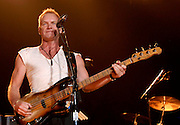 Singer Sting of The Police performs at Madison Square Garden on Wednesday, August 1, 2007 in New York.