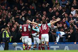 Goal, Andy Carroll of West Ham United scores, Chelsea 1-2 West Ham United - Mandatory byline: Jason Brown/JMP - 19/03/2016 - FOOTBALL - London, Stamford Bridge - Chelsea v West Ham United - Barclays Premier League