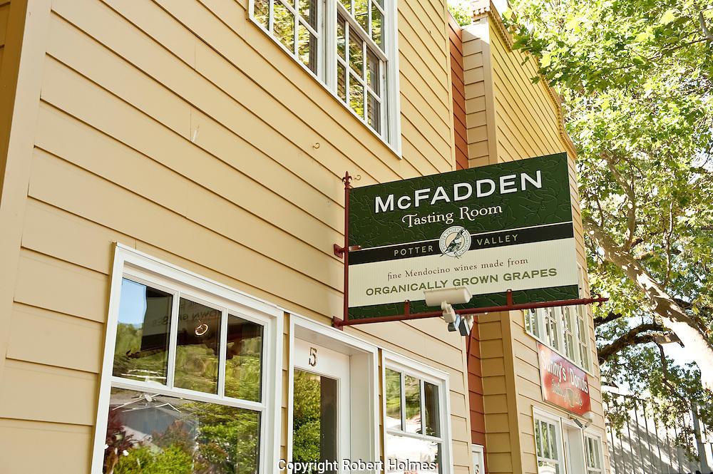 McFadden Winery tasting room, Hopland, Mendocino County, California