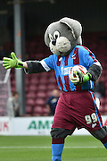 Scunny Bunny before the Sky Bet League 1 match between Scunthorpe United and Shrewsbury Town at Glanford Park, Scunthorpe, England on 17 October 2015. Photo by Ian Lyall.
