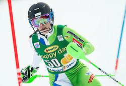 "Klara Livk (SLO) in action during 1st Run of the FIS Alpine Ski World Cup 2017/18 7th Ladies' Slalom race named ""Golden Fox 2018"", on January 7, 2018 in Podkoren, Kranjska Gora, Slovenia. Photo by Ziga Zupan / Sportida"
