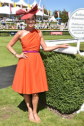 Francesca Cumani at the Qatar Goodwood Festival - Glorious Goodwood, Goodwood Racecourse, West Sussex 02 August 2018.