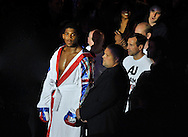 Picture by Alan Stanford/Focus Images Ltd +44 7915 056117<br />05/10/2013<br />Anthony Joshua arriving for his Heavyweight Contest at the O2 Arena, London.