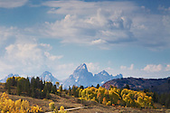 Autumn,  Grand Tetons, Gros Ventre River Valley, Jackson Hole, Wyoming<br />