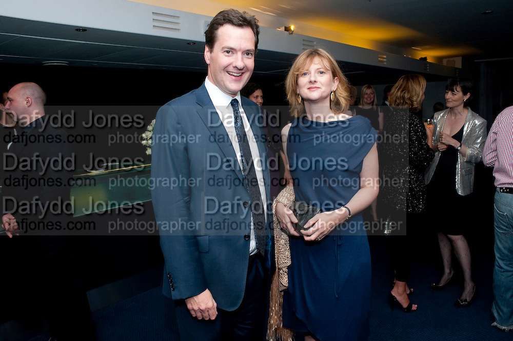 GEORGE OSBORNE; FRANCES OSBORNE, The 2009 GQ Men Of The Year Awards at The Royal Opera House. Covent Garden.  8 September 2009.