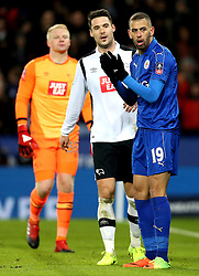 Islam Slimani of Leicester City looks shocked after missing a chance to score - Mandatory by-line: Robbie Stephenson/JMP - 08/02/2017 - FOOTBALL - King Power Stadium - Leicester, England - Leicester City v Derby County - Emirates FA Cup fourth round replay