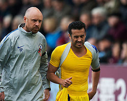 Pedro of Chelsea (R) looks dejected as he goes off injured - Mandatory by-line: Jack Phillips/JMP - 28/10/2018 - FOOTBALL - Turf Moor - Burnley, England - Burnley v Chelsea - English Premier League