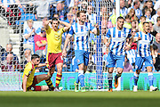 Burnley midfielder Joey Barton (13) goes close during the Sky Bet Championship match between Brighton and Hove Albion and Burnley at the American Express Community Stadium, Brighton and Hove, England on 2 April 2016.