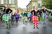 UNITED KINGDOM, Northumberland: 16 July 2017 Highland dancers perform during the Rothbury Traditional Music Festival. The annual event, held in the small village of Rothbury in Northumberland, focusses on the traditional history and local folk music of the Coquetdale region.<br /> Rick Findler / Story Picture Agency