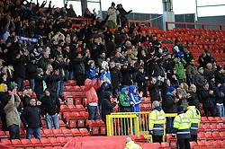 Bristol Rovers fans - Photo mandatory by-line: Neil Brookman/JMP - Mobile: 07966 386802 - 28/02/2015 - SPORT - Football - Gateshead - Gateshead International Stadium - Gateshead v Bristol Rovers - Vanarama Football Conference